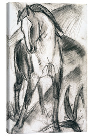Canvas print  Young horse in mountain landscape - Franz Marc