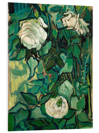 Foam board print  Roses and Beetle - Vincent van Gogh