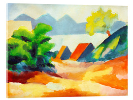 Acrylic print  By the lake Thun I - August Macke
