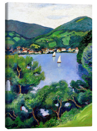 Canvas print  View of Tegernsee lake - August Macke