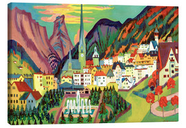Canvas print  Davos in the summer - Ernst Ludwig Kirchner
