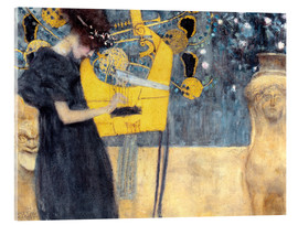 Acrylic print  The music - Gustav Klimt