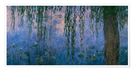 Premium poster Lily pond with Weeping Willow