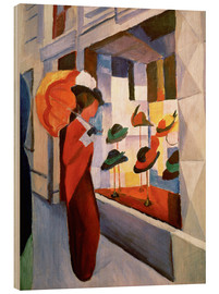 Wood print  Hat Shop - August Macke