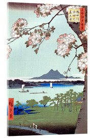 Acrylic print  Masaki and the Suijin Grove by the Sumida River - Utagawa Hiroshige