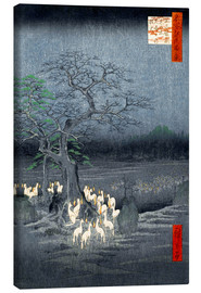 Canvas print  Foxes meeting at Oji - Utagawa Hiroshige