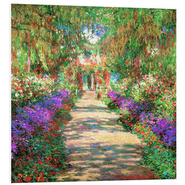 Foam board print  A Pathway in Monet's Garden - Claude Monet
