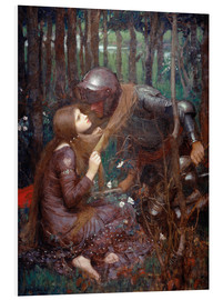 Foam board print  La Belle Dame sans Merci (The Beautiful Lady Without Mercy) - John William Waterhouse