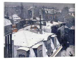 Acrylic print  Rooftops in the snow - Gustave Caillebotte