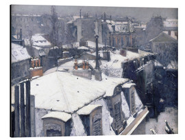 Aluminium print  Rooftops in the snow - Gustave Caillebotte