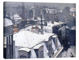 Canvas print  Rooftops in the snow - Gustave Caillebotte