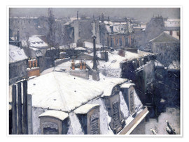 Premium poster  Rooftops in the snow - Gustave Caillebotte