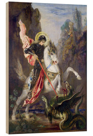 Wood print  St. George and the Dragon - Gustave Moreau