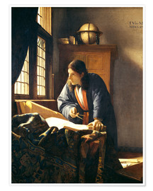 Premium poster  A geographer or astronomer in his study - Jan Vermeer