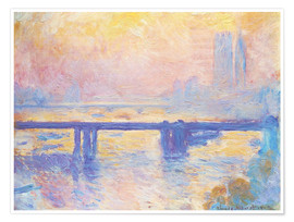 Premium poster  Charing Cross Bridge - Claude Monet