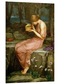 Foam board print  Psyche opening the golden box - John William Waterhouse