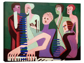 Canvas print  Singer at the piano - Ernst Ludwig Kirchner