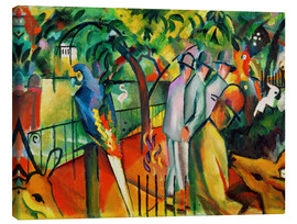 Canvas print  Zoological garden - August Macke