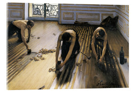 Acrylic print  The parquet planers - Gustave Caillebotte
