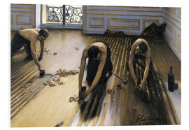 Foam board print  The parquet planers - Gustave Caillebotte