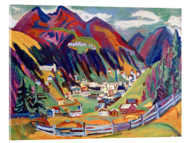 Acrylic print  View of Davos - Ernst Ludwig Kirchner