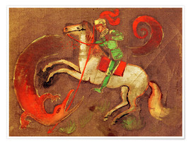 Premium poster  Knight George and dragon - August Macke