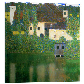 Foam board print  Castle chamber on the Attersee I - Gustav Klimt