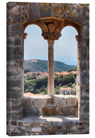 Canvas print  A view through the window in Tuscany, Italy - Filtergrafia