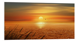 Foam board print  Sunset Over The Ocean - Monika Jüngling