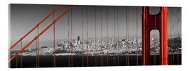 Acrylic print  Golden Gate Bridge Panoramic - Melanie Viola