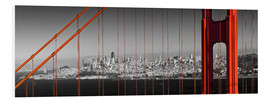 Foam board print  Golden Gate Bridge Panoramic - Melanie Viola
