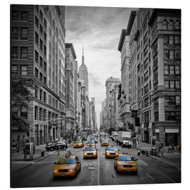 Aluminium print  NEW YORK CITY 5th Avenue Traffic - Melanie Viola
