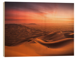 Wood print  Desert Sunset - Andreas Wonisch