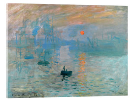 Acrylic print  Sunrise - Claude Monet