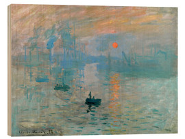 Wood print  Sunrise - Claude Monet
