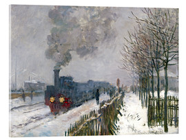 Acrylic print  Train in the snow (The Locomotive) - Claude Monet