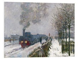 Foam board print  Train in the snow (The Locomotive) - Claude Monet