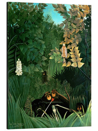 Aluminium print  The monkeys - Henri Rousseau
