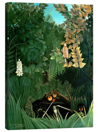 Canvas print  The monkeys - Henri Rousseau