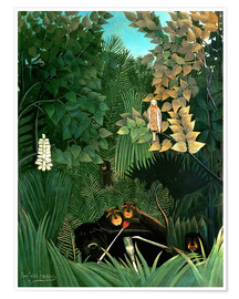 Premium poster  The monkeys - Henri Rousseau