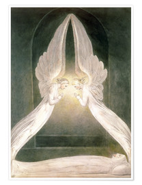 Premium poster  Christ in the Sepulchre, Guarded by Angels - William Blake