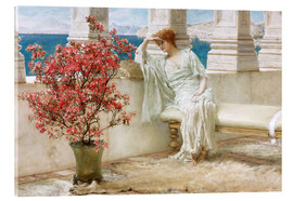 Acrylic print  Her eyes are with her thoughts and they are far away - Lawrence Alma-Tadema
