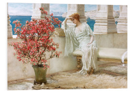 Foam board print  Her eyes are with her thoughts and they are far away - Lawrence Alma-Tadema