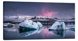 Canvas print  Eisebergs at Icelands Glacier Lagoon - Andreas Wonisch