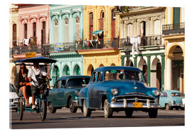 Acrylic print  classic us cars in havanna, cuba - Peter Schickert