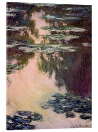 Acrylic print  Waterlilies with Weeping Willows - Claude Monet