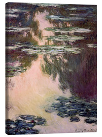 Canvas print  Waterlilies with Weeping Willows - Claude Monet