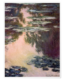 Premium poster  Waterlilies with Weeping Willows - Claude Monet