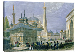 Canvas print  Fountain and Square of St. Sophia, Istanbul - William Henry Bartlett