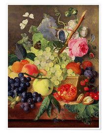 Premium poster Fruit basket, 1744